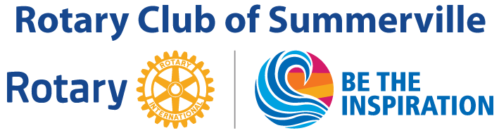 Rotary club name logo and current year theme